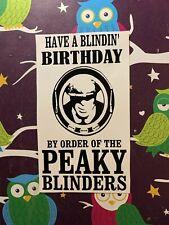 Have A Blindin Birthday  Peaky Blinders Wine Bottle Vinyl Decal