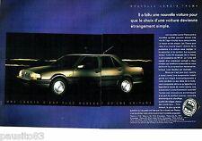 PUBLICITE ADVERTISING 116  1989  La Lancia  Thema  turbo 16 s (2pages)