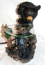 New Mother & Cub Black Bears Bear Fragrance Oil Burner Tart Warmer With Dimmer