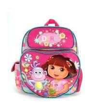 "Nickelodeon Dora the Explorer Girls 12"" Canvas Pink School Backpack"