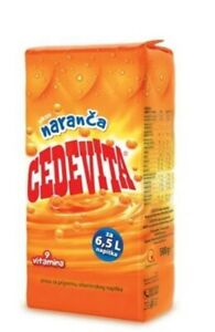 2 Pack Cedevita Orange Vitamin Drink, 500g Each