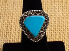 Ring Size 8 3/4 weighs 7g's Unique Robin Egg Blue Turquoise Sterling Silver
