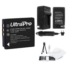 KLIC-7004 Battery + Charger + BONUS for Kodak EasyShare M1033 M1093 M2008 V1073
