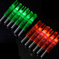 12PCS Archery Lighted Nock Compound Bow Green and Red LED Arrow Nock New brand