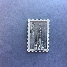 Euro Disney pewter castle stamp pin Disney Pin 2469