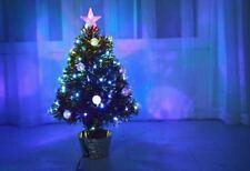 2ft 60cm Gold Fibre Optic & LED Christmas Tree Star Top Xmas Golden Decorations