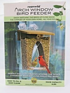 BIRD FEEDER Arch with Drainage Holes Window Protectors 4 Lbs Capacity ROAMWILD