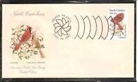 US SC # 1985 State Birds And Flowers ( North Carolina ) FDC. HF Cachet .