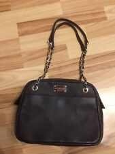 Tasche Handtasche  Von Paul Costelloe  schwarz gold 100% Leder