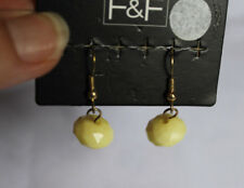 Yellow Bead Drop/Dangle Earrings New, F&F, Simple Minimal