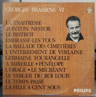 Rare LP OR.FR. 1968 B.I.E.M  GEORGES BRASSENS VI -  Philips ‎– 844.755 BY  TBE