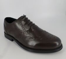 Clifford James  Men's Leather Brogues Shoes Brown Size UK 8 EU 42 NH08 11