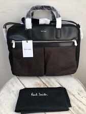 Designer Paul Smith Black Nylon Leather Trim City Folio TravelBag BNWT RRP £400