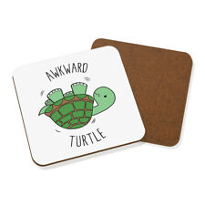 Awkward Turtle Coaster Drinks Mat - Funny