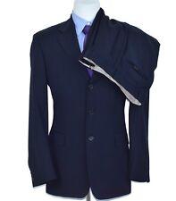 Hugo Boss Navy Blue Pinstripe Wool Mens 2 piece Suit Jacket Size 40-R Pant 34x31