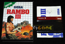 RAMBO III 3 Master System Versione Europea PAL ••••• COMPLETO