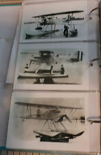WWII U.S. NAVY CURTISS SEAPLANE BIPLANE AIRPLANES: 3 B&W 4X6 PHOTOGRAPHS SET #90