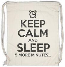 Keep Calm And Sleep Drawstring Bag Fun Chill Chiller Relax Sleep Sleeping