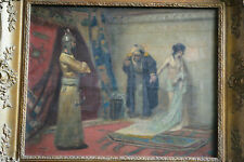 Fred Vezin 1859 Ein Handel - Orient Harem Sklavin Ölgemälde Leinwand Frederick