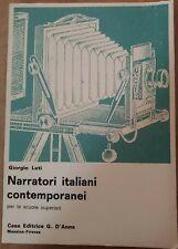 Narratori italiani contemporanei - Giorgio Luti,  1969,  G. D'Anna - S
