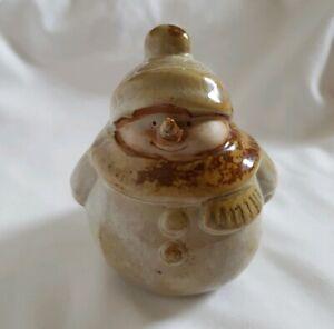 ❀ڿڰۣ❀ STUDIO POTTERY Shabby Chic FESTIVE CHRISTMAS SNOWMAN Ornamental FIGURINE ❀