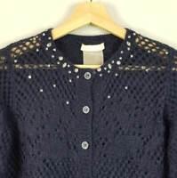 [ SCERVINO STREET ] Womens Wool Blend Handmade Cardigan | Size S or AU 10 / US 6