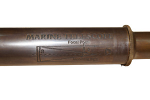 "Telescope Nautical Spyglass Designer Marine Antique Brass 15"" Navigational"