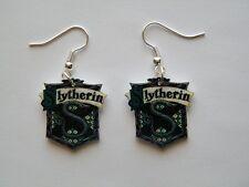 Harry Potter Inspired  Slytherin Emblem Earrings