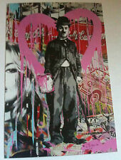 MR BRAINWASH CHARLIE CHAPLIN KATE MOSS EVENT / PROMO CARD FROM ARTSHOW 2011 RARE