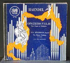 Haendel / Händel Concerti 13 à 16 Eva Hölderlin Rolf Reinhardt 2 LP & CV VG++