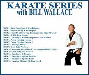 KARATE Training Series (15) DVD Set kicking self defense takedowns sparring