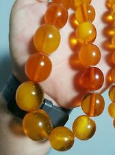 VINTAGE amber beads 1950 EXELLENT ANTIQUE Beads BALTIC AMBER Necklace 84 gr! 老琥珀