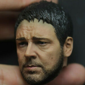 """1/6 Scale Head Scuplt Russell Crowe Carving Model Gladiator 12"""" HTtoys Body"""