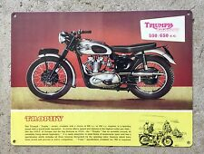 Triumph Trophy Motorcycle Ad British 500 650 TR5 TR6 Vintage Poster Meta Sign