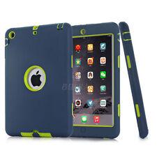 NEW Shockproof Hybrid Heavy Duty Rubber Hard Case Cover For Apple iPad Models UK