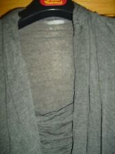 Ladies MARKS AND SPENCERST Size 16- GREY MARL SOFT FEEL TWIN SET IN ONE- VGC