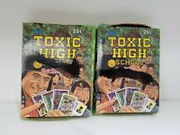 1992 Topps Toxic High School Collectible Trading Pack Sticker Box 2 BOX LOT