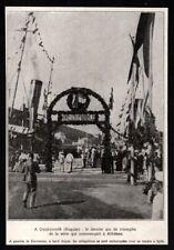 1929   --   DUBROVNIK  CROATIE ARC DE TRIOMPHE VIVE LA FRANCE  RAGUSE   3R356