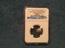 2013 Canada 25c War of 1812 Laura Secord First Releases MS66