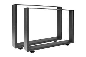 Tischkufen Tischgestell Tischbeine Stahl Schwarz Rohstahl Industriedesign Metall