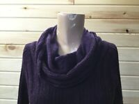 The Limited Sweater Women's M Wool Blend Purple Cowl Neck