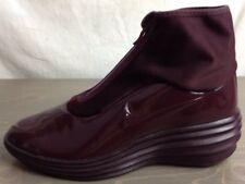 Nike Lunar Elite Sky Hi Sneakerboots 8.5 Womens Zip Sock Water Resist Burgundy
