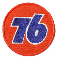 Ecusson patche 76 racing gasoline thermo patch brodé moto racing motard