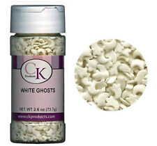 White Ghosts Halloween Edible Confetti Sprinkles from CK 11307 NEW