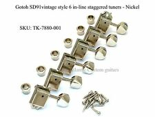 Gotoh SD91 Vintage Style Staggered Tuners 6 In Line (Strat/Tele) - Nickel