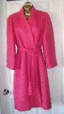 Stunning Women's Holt Renfrew Pink 100% Wool Dress Coat Jacket Made in Canada