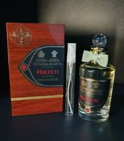PENHALIGONS HALFETI EAU DE PARFUM EDP PERFUME SAMPLE 10ML ATOMISER GLASS SPRAY.