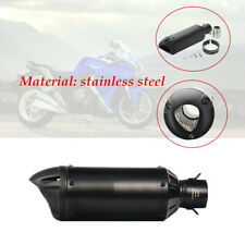 Motorcycle Racing retro dumb black Adjustable 38-51mm Exhaust Tail Pipe Muffler