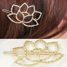 Gold Floral Hair Clip Flower Head Pin Barrette Clasp Grip Small Vintage Prom UK