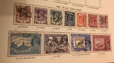 BURMA 1946 SG 51-59 NEW COLOURS 11 Values Fine Used
